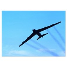 B-52 Silhouette Poster
