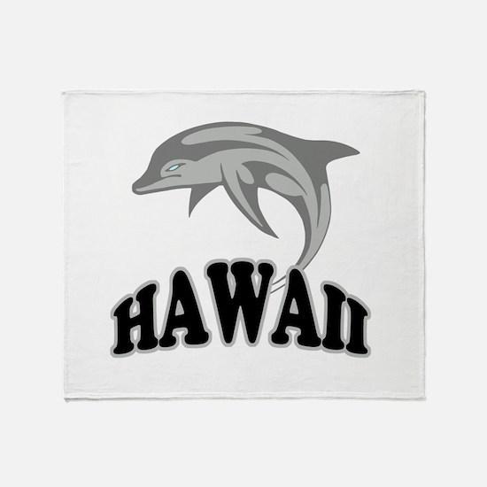Hawaii Dolphin Souvenir Throw Blanket