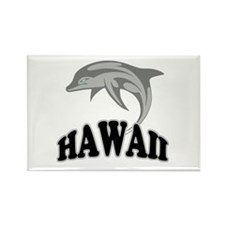 Hawaii Dolphin Souvenir Rectangle Magnet