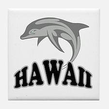 Hawaii Dolphin Souvenir Tile Coaster