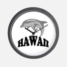 Hawaii Dolphin Souvenir Wall Clock