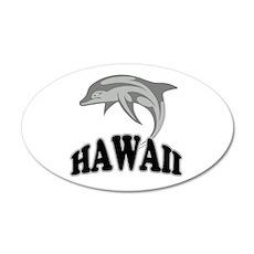 Hawaii Dolphin Souvenir 22x14 Oval Wall Peel
