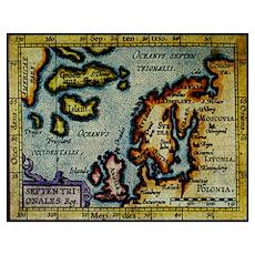 """Scandinavia/N. Europe Map"" Poster"