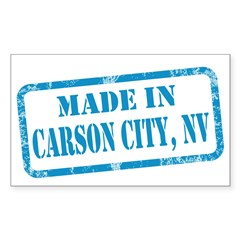 MADE IN CARSON CITY, NV Sticker (Rectangle 10 pk)