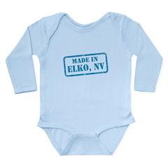MADE IN ELKO, NV Long Sleeve Infant Bodysuit