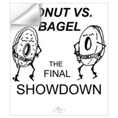 Donut vs. Bagel - Final Showd Wall Decal
