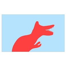 Dinosaur (Rose with Blue_ Poster