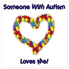 Someone With Autism Loves Me! Framed Print