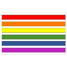 SEPARATED RAINBOW STRIPES Poster