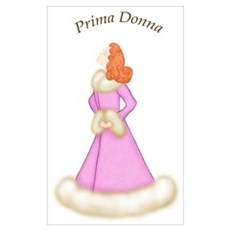 Redhead Prima Donna in Pink Robe Framed Print