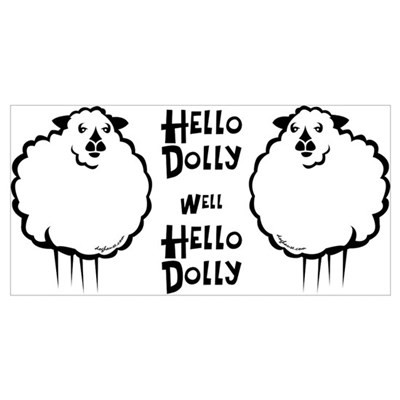 Hello Dolly Sheep Poster