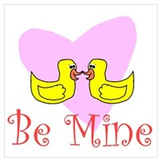 Be Mine Duckie Poster