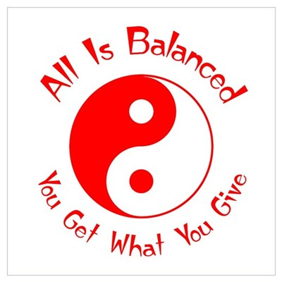 Balance Yin Yang (red) Canvas Art