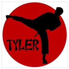 Tyler Karate Poster