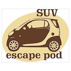 SUV Escape Pod Poster