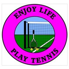 Enjoy Life Play Tennis Framed Print