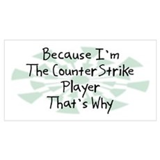 Because CounterStrike Player Poster