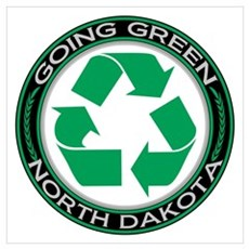 Going Green North Dakota (Recycle) Canvas Art