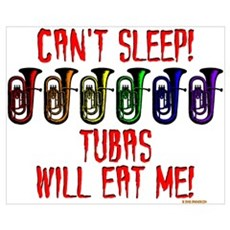 Tubas Will Eat Me Canvas Art