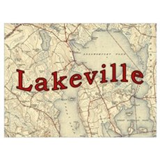 Lakeville Massachusetts Old Map Framed Print