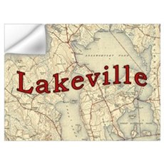 Lakeville Massachusetts Old Map Wall Decal