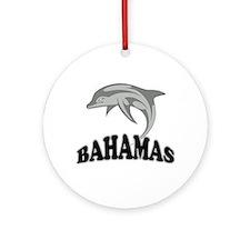 Bahamas Dolphin Souvenir Ornament (Round)