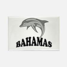 Bahamas Dolphin Souvenir Rectangle Magnet