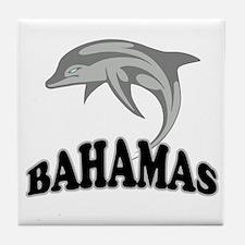 Bahamas Dolphin Souvenir Tile Coaster