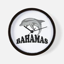 Bahamas Dolphin Souvenir Wall Clock