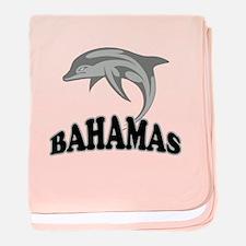 Bahamas Dolphin Souvenir baby blanket