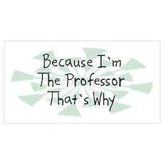 Because Professor Poster
