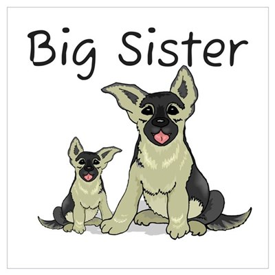 Dogs GS Big Sister Canvas Art
