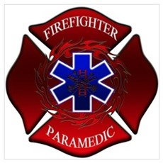 FIREFIGHTER-PARAMEDIC Framed Print