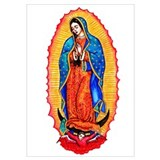 Mexican virgin Framed Prints