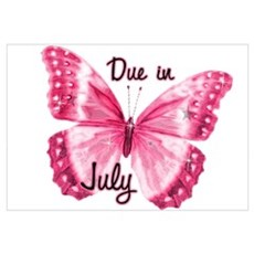Due July Sparkle Butterfly Framed Print