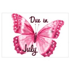 Due July Sparkle Butterfly Poster