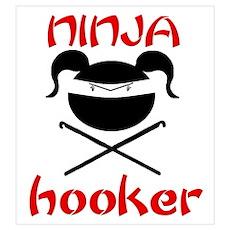 ninja hooker (crochet) Poster