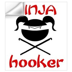 ninja hooker (crochet) Wall Decal