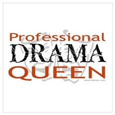 Professional Drama Queen Canvas Art