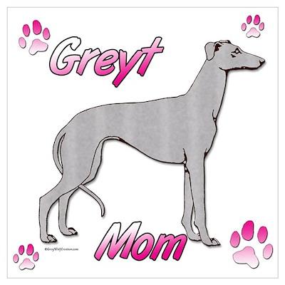 Greyt mom blue Poster