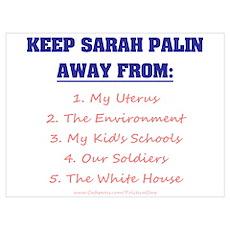 Keep Palin Away Poster