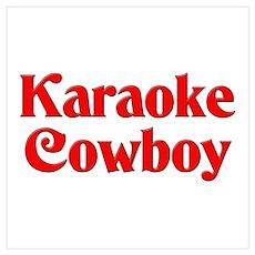Karaoke Cowboy Poster