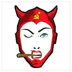 Soviet Devil Girl Poster