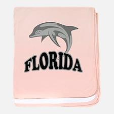 Florida Dolphin Souvenir baby blanket