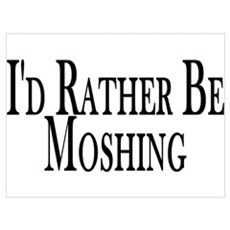 Rather Be Moshing Canvas Art