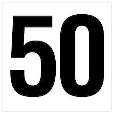 Number 50 Helvetica Poster