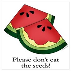 Please don't eat the seeds. Framed Print