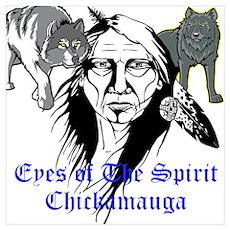 Chickamauga Native American Poster