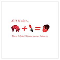 A Pig + Lipstick = Sarah Palin Poster