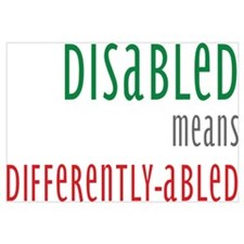 Disabled = Differently-abled